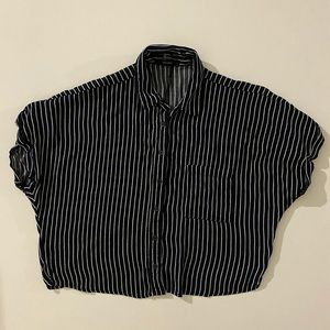 Forever21 Navy Stripe Button-up